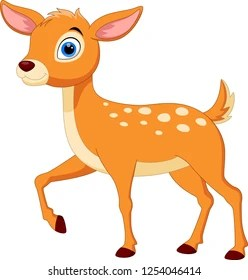 deer cartoon images stock