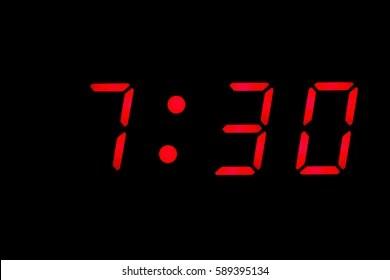 7 30 clock images