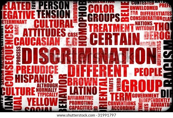 discrimination creative concept grunge