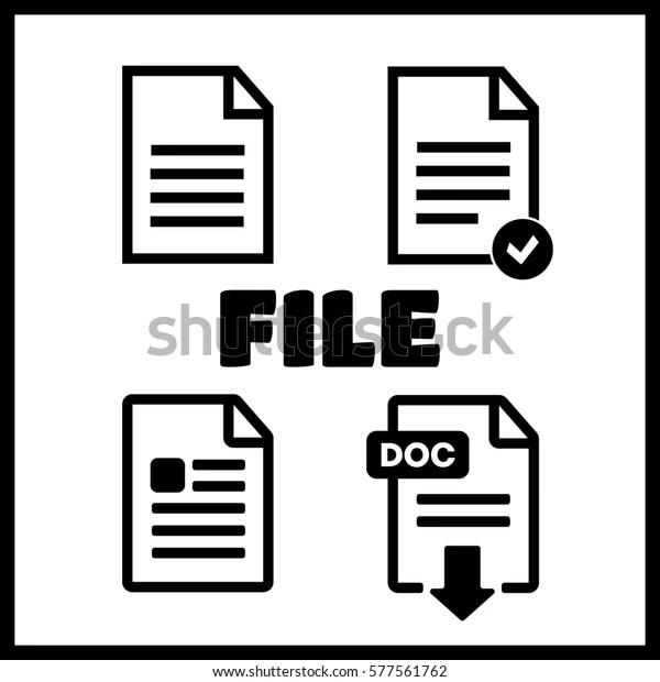 Document Text Symbol Pdf Web Format Stock Illustration