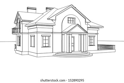 Line Drawing House Images, Stock Photos & Vectors