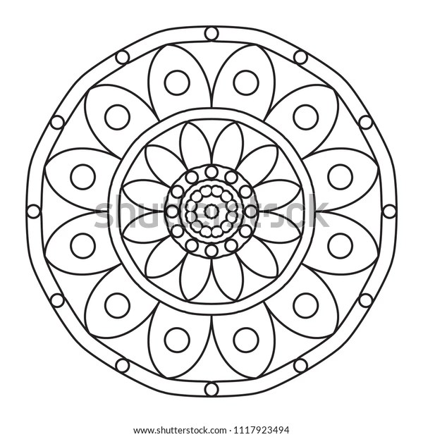 Easy Mandalas Basic Simple Mandala Pattern Stock