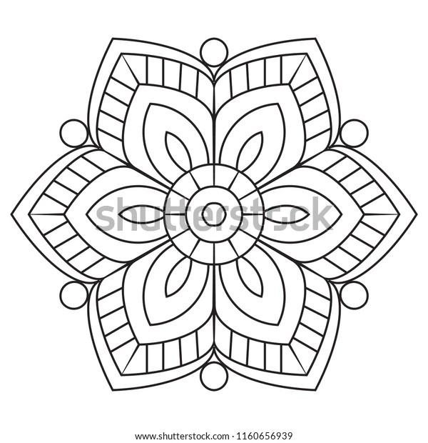 Easy Mandalas Basic Simple Mandala Flowers Stock