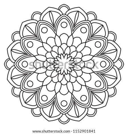 Easy Mandalas Simple Basic Mandala Beginners Stock