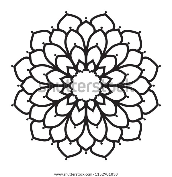 Easy Mandalas Simple Basic Mandala Beginners Stock