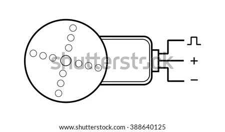 Electric Servo Motor Symbol Diagram Stock Illustration