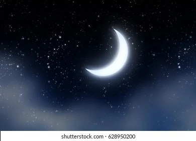 crescent moon images stock
