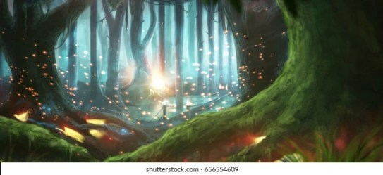 Night Mystical Anime Backgrounds