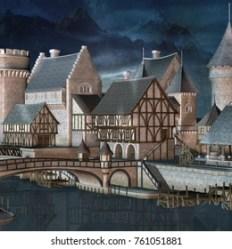 Medieval Fantasy City Bridge Images Stock Photos & Vectors Shutterstock