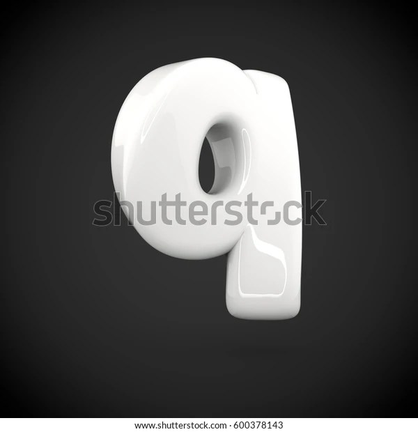 glossy white paint letter
