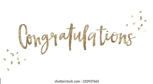 congratulation stock