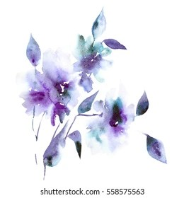 painting watercolor flower images