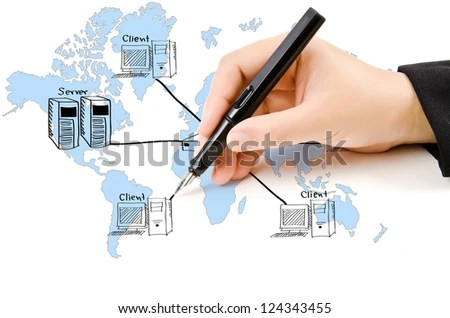 office lan network diagram ford taurus cooling system royalty free stock illustration of hand write on the whiteboard