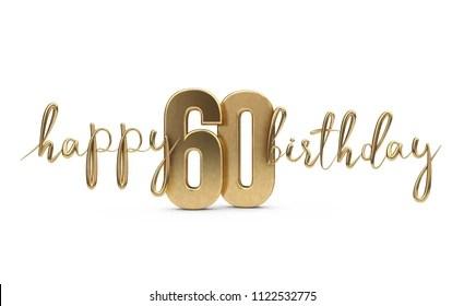 https www shutterstock com image illustration happy 60th birthday gold greeting background 1122532775