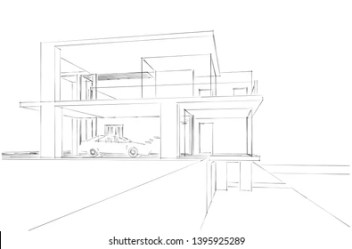 Contemporary Architecture Sketch Images Stock Photos & Vectors Shutterstock