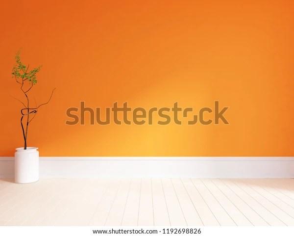 https www shutterstock com fr image illustration idea orange empty scandinavian room interior 1192698826