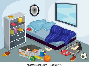 Ilration Of A Messy Bedroom Eps Vector Format Also Available In My Portfolio