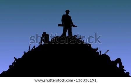 Standing Over Dead Body