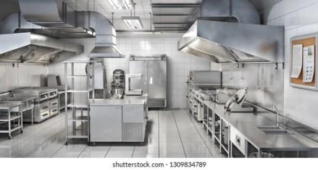 Cartoon Restaurant Kitchen Background