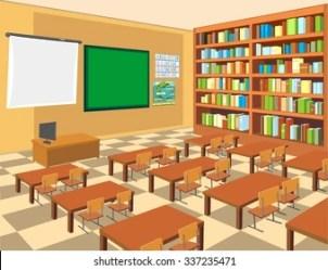 Empty Classroom Cartoon Images Stock Photos & Vectors Shutterstock