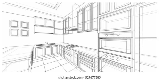 Stove Oven Sketch Images, Stock Photos & Vectors