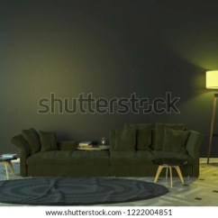 Lamps Sofa Table Beat Royalty Free Stock Illustration Of Interior Night Two At With A Carpet And