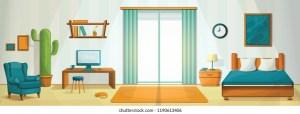 cartoon living inside shutterstock interior houses vectors concept terbaru trend window artist 1529