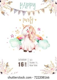 unicorn birthday wallpaper hd