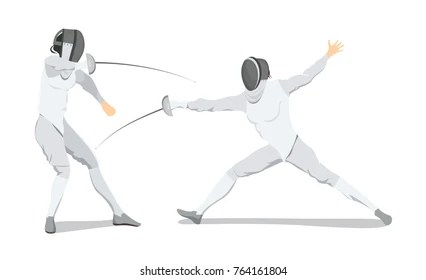 Image result for fencing cartoon