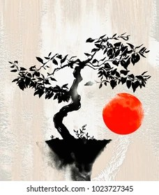 Bonsai Drawing : bonsai, drawing, Bonsai, Drawing, Stock, Images, Shutterstock