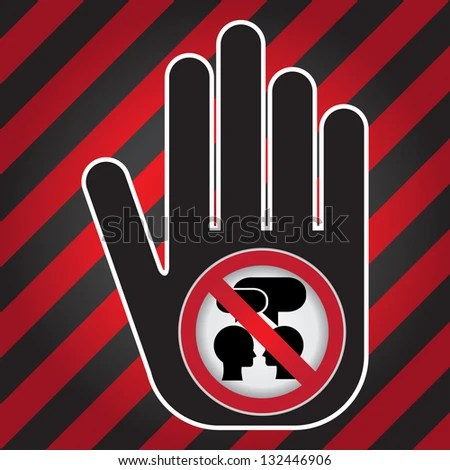 Keep Quiet Sign Present By Hand Stock Illustration 132446906 - Shutterstock