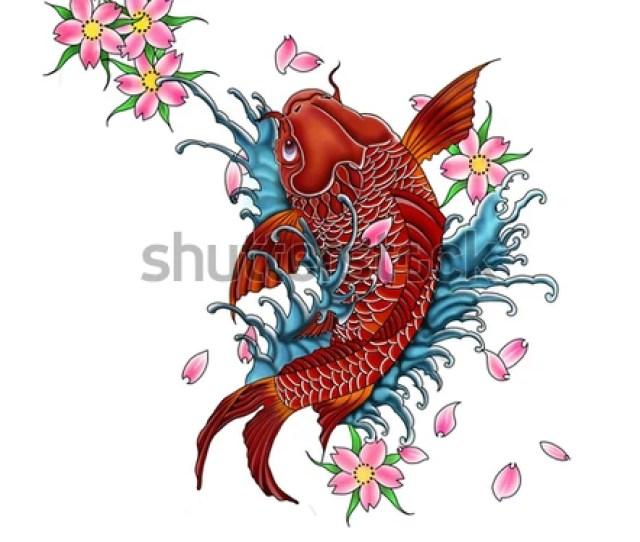 Koi Fish Tattoo Design Japanese Style
