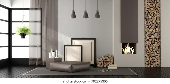 living room footstool closet door ideas images stock photos vectors shutterstock with fireplace and on carpet 3d rendering