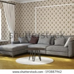 Fancy Living Room Tables Tiles For And Kitchen Royalty Free Stock Illustration Of Table Carpet With Wallpaper