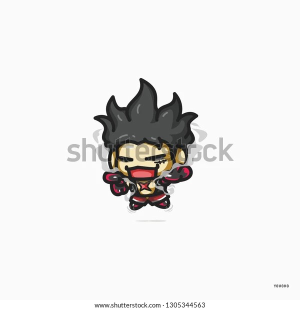Unlike his other two gear fourth forms, luffy does not significantly expand, with his forearms, legs, and upper torso being only slightly enlarged and the rest of his body retaining. Luffy Gear 4th Snake Man Stock Illustration 1305344563