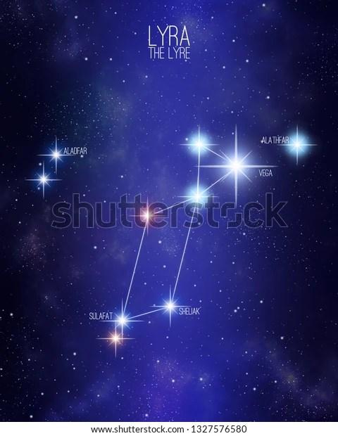 Constellation De La Lyre : constellation, Constellation, Illustration, Stock, 1327576580