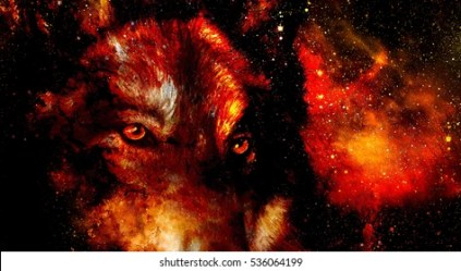 Galaxy Wolf Images Stock Photos & Vectors Shutterstock