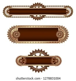steampunk banner images stock