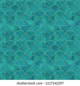 https www shutterstock com image illustration mermaid fish scale wave japanese luxury 1117142297