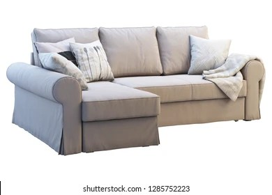 grey fabric sofa next china suppliers images stock photos vectors shutterstock modern beige with chaise lounge colored pillows and plaid on white