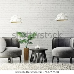 Grey Modern Armchairs Allsteel Acuity Chair Review Living Room Lamp Stock Illustration Royalty With And Scandinavian Interior Design Furniture 3d Render