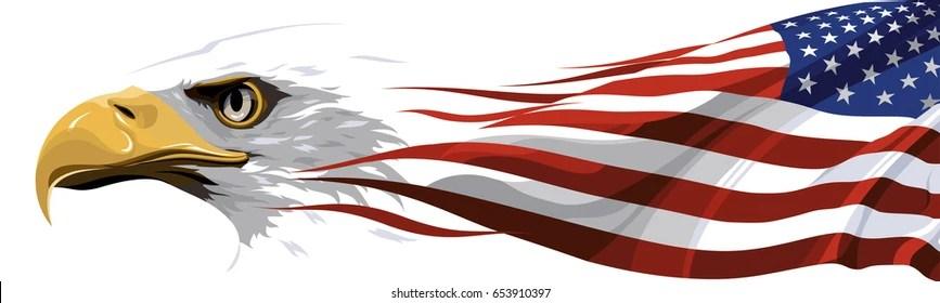 american flag eagle images