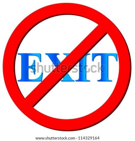 No Exit Logo On White Background Stock Illustration 114329164 - Shutterstock