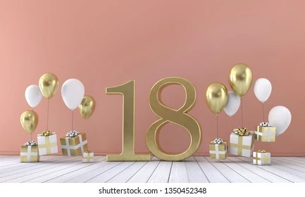 https www shutterstock com image illustration number 18 birthday party composition balloons 1350452348