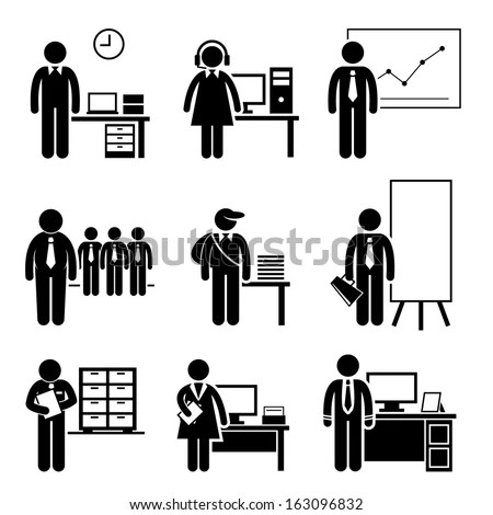 Office Jobs Occupations Careers Staff Employee Stock