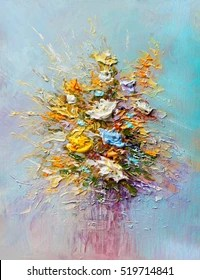 oil painting flowers images