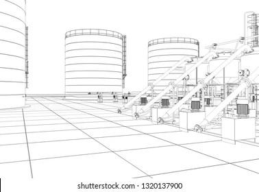 Petroleum Distillation Stock Illustrations, Images