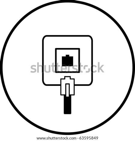 Phone Jack Connection Box Symbol Stock Illustration