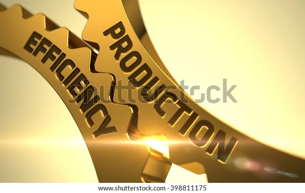 Production Efficiency On Mechanism Golden Metallic Stock Illustration 398811175