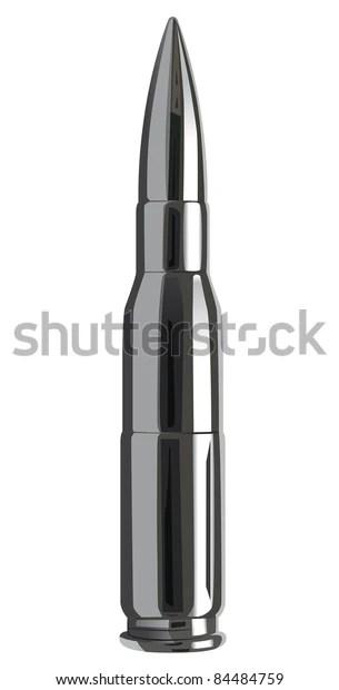 Raster Silver Bullet Vector Version Available Stock Illustration 84484759